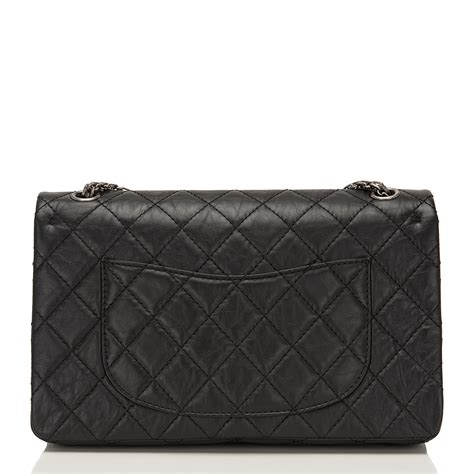 Chanel Calfskin Logo Flap Bag by Chanel Black Quilted Aged Calfskin Reissue 2 55