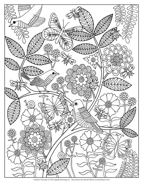 coloring pages for adults garden free garden and bugs coloring pages