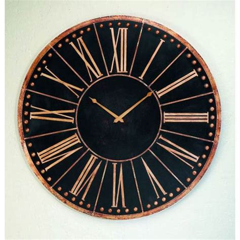Accent Wall Clock Antique Black Oversized Iron Accent Wall Clock Dr