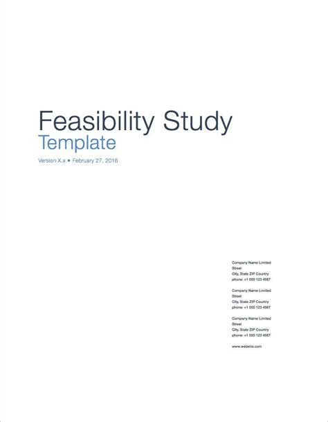 feasibility study template small business feasibility study template apple iwork