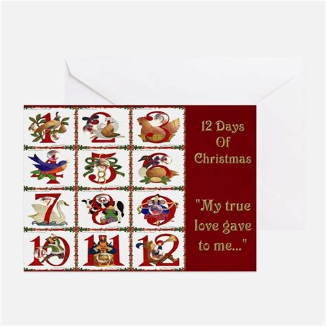12 days of greeting cards card ideas sayings