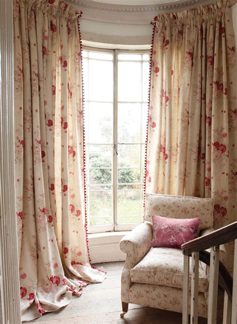 roses curtains  sprig chair  josephine red cushion