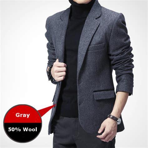Jfashion Mens Ekslusif Blazer Stephen autumn winter business casual slim fitted warm suits mens fashion wool suit coat at banggood
