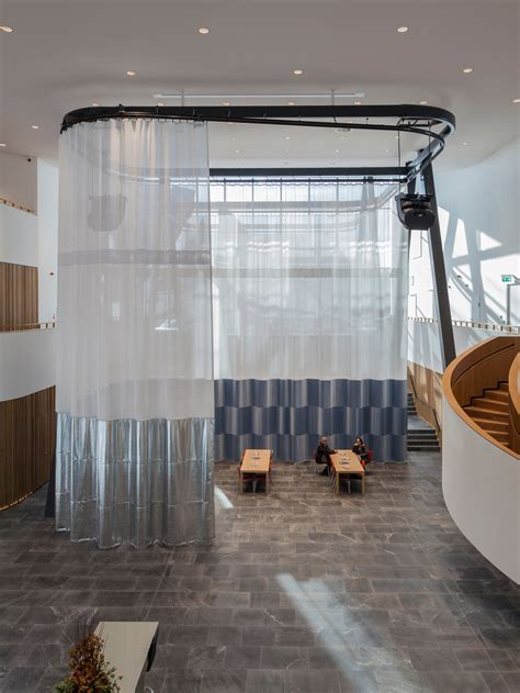 petra blaisse curtains rabobank sittard auditorium curtains inside outside