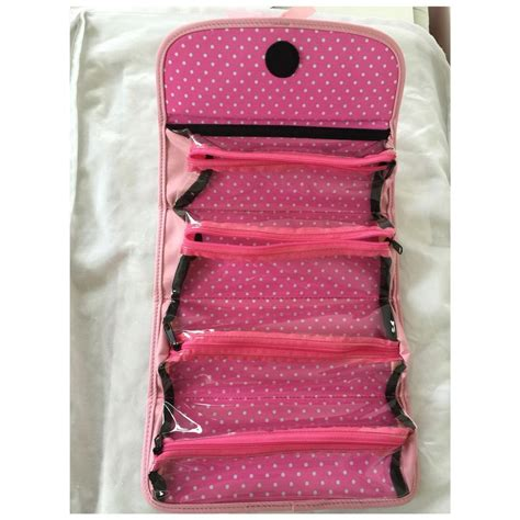 Roll Bag Pink couture pink roll cosmetic bag tradesy