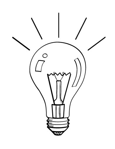 lights coloring pages free light bulb coloring page