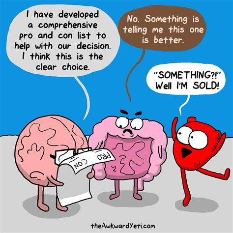 and brain gut instincts an awkward yeti collection trust gut
