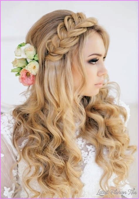 wedding hairstyles curls down bridal hairstyles half up half down curls