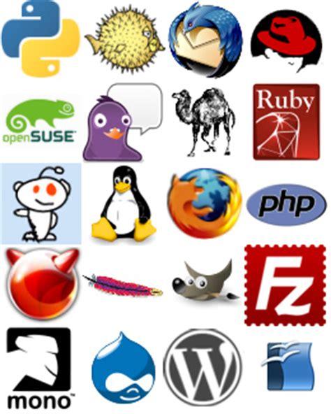 logo creator software open source open source logos collage of f oss logos contains logos