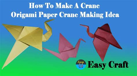 How To Make A Crane Out Of Origami - how to make a crane origami paper crane idea