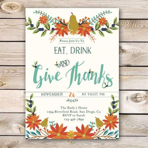 best 25 thanksgiving invitation ideas on pinterest