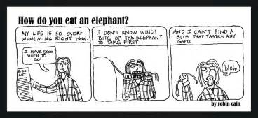 The Six Blind And The Elephant How Do You Eat An Elephant Answer One Bite At A Time