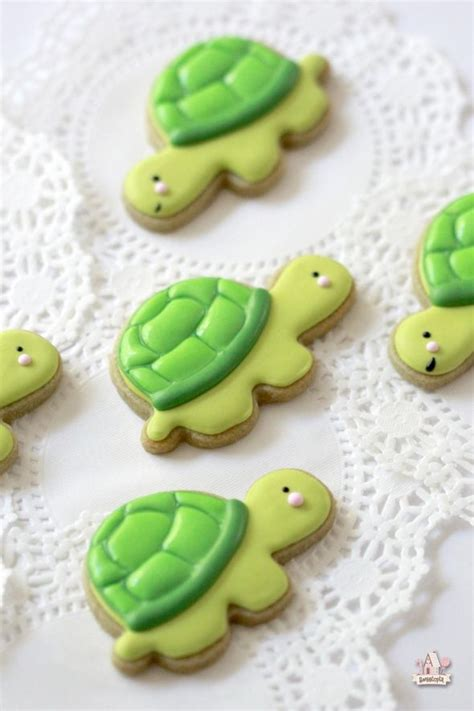 How To Decorate Cookies by How To Make Turtle Cookies Sweetopia