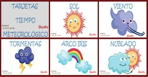 Imagenes Educativas El Tiempo | tarjetas tiempo meteorol 243 gico imprimibles imagenes