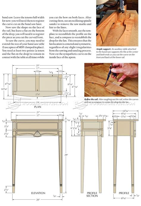 bow front dresser plans bow front table plans woodarchivist