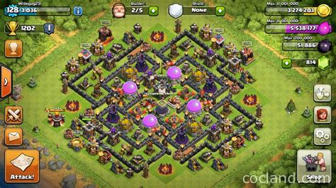 online land layout the maze runner th10 labyrinth farming base clash of