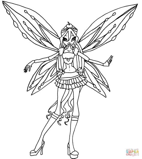 winx coloring pages zoomix bloom coloring page free printable coloring pages