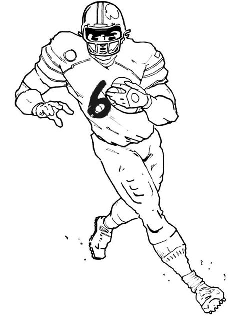 printable football player coloring pages coloring me