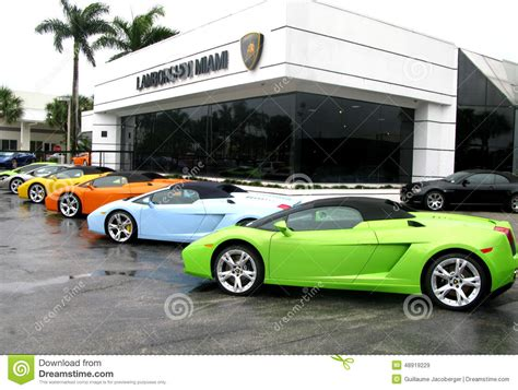 Lamborghini Store by Lamborghini Store In Miami Editorial Stock Image Image