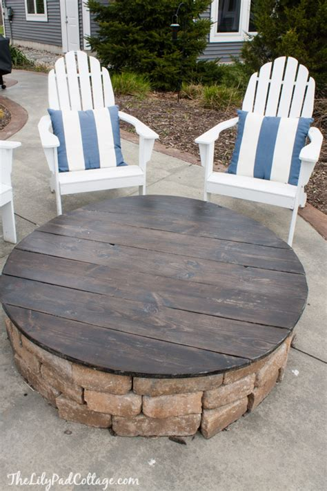 diy firepit table the do s and don ts of a pit table top the lilypad cottage