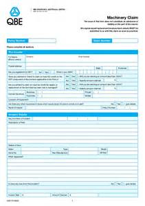 Car Insurance Cover Note Australia Qbe Machinery Claim Form