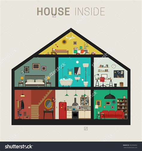rooms of a house different rooms in a house clipart 55