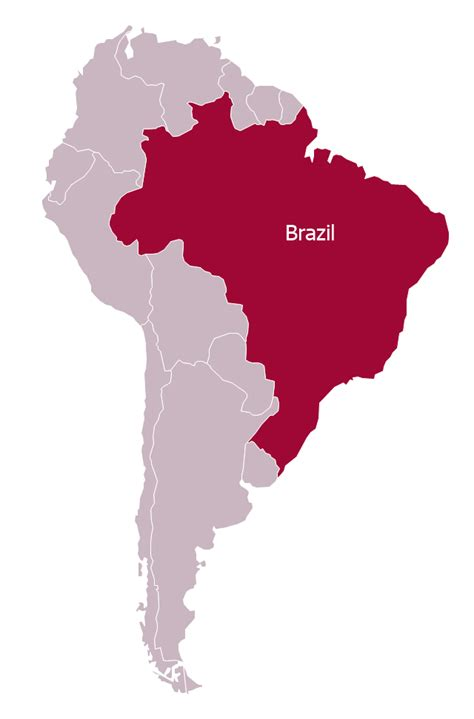 south america map to draw brazil in south america political map
