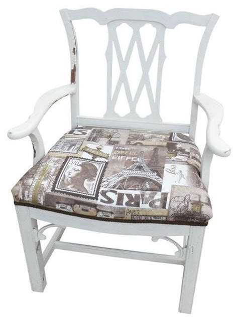 shabby chic accent chairs pre owned shabby chic chippendale style captains chair