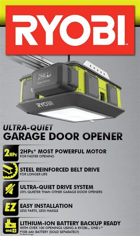 Garage Door Opener Will Not Ryobi Ultra Garage Door Opener Model Gd 200 Vip Outlet