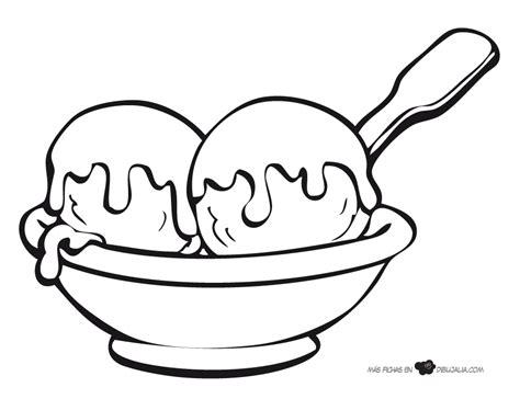 imágenes para dibujar helados bolas helado dibujalia dibujos para colorear