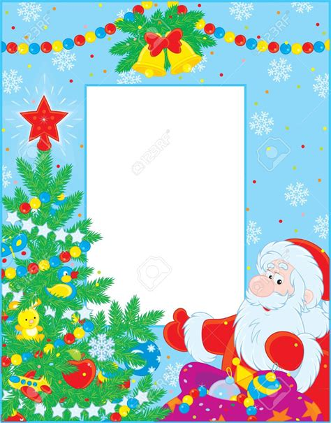 babbo natale clipart frame clipart santa claus pencil and in color frame