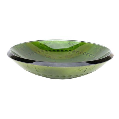green glass vessel bathroom sinks shop eden bath green glass vessel round bathroom sink at