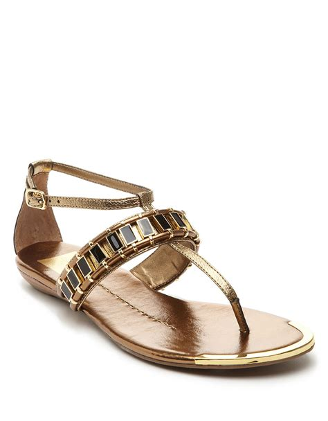 sandals dolce vita dv by dolce vita alyce sandals in gold lyst