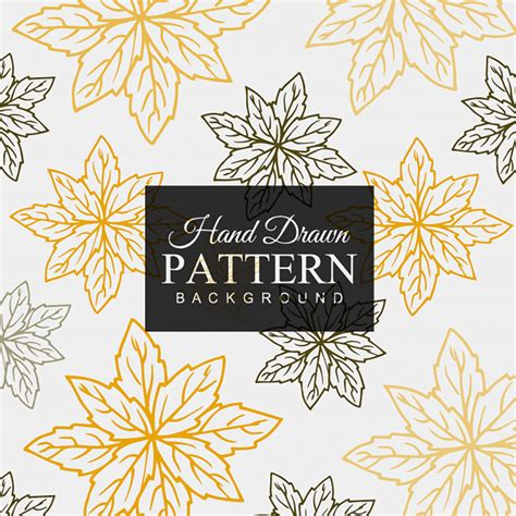 leaves pattern freepik hand drawn colorful leaves pattern vector free download