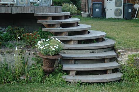 escalier pour jardin jardin nicolas dupriez escaliers bois