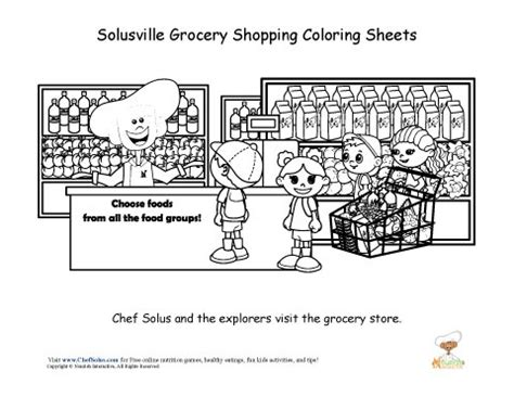 printable coloring pages grocery store chef solus grocery store coloring sheet