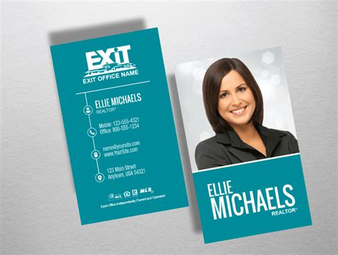 exit realty business cards template high end realtor business cards image collections card