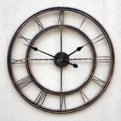 large metal wrought iron wall clock provincial