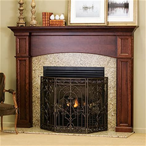 Cherry Wood Fireplace Mantels by Davenport Traditional Wood Fireplace Mantel Surrounds