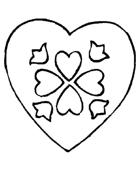heart pattern color valentine heart coloring pages coloring home