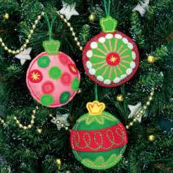 Handmade felt ornaments last throughout the years and bring back fun