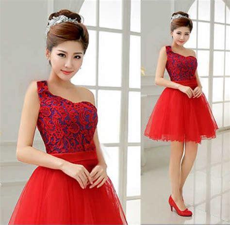 Dress Ambar Brukat Merah Mini Dress Brukat Dress Natal Dress Pesta baju mini dress brukat merah cantik murah