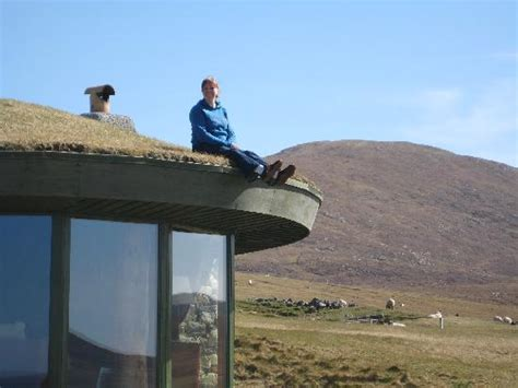 me on the roof of the cottage picture of blue reef