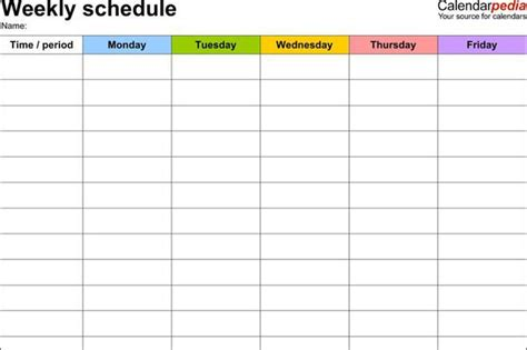 Rotation Schedule Template Weekend Weekend On Call Schedule Template Londa Britishcollege Co Vbs Schedule Template