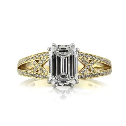 2 51ct emerald cut engagement ring