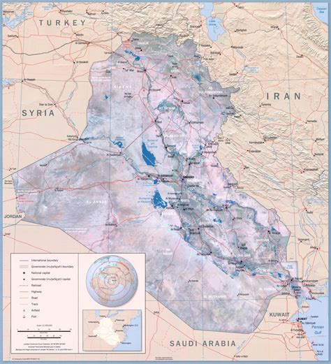 map of iraq and surrounding area iraq ecoi net european country of origin information