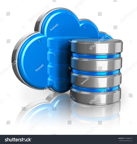 Disk Cloud Storage cloud computing remote data storage concept stock illustration 104080010