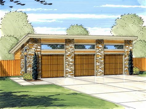 modern garage plans 3 car garage plans modern three car garage plan design 050g 0035 at thegarageplanshop