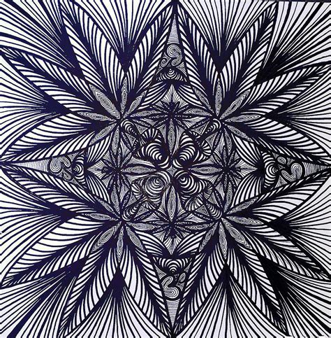Thinkin Green Drawing By Sarah Yencer Trippy Pot Leaf Coloring Pages