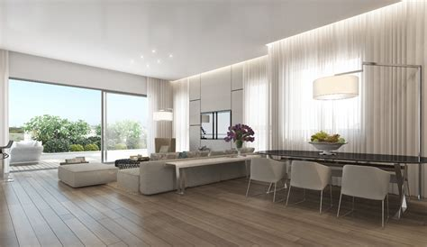 open floor plan studio apartment neutral open plan apartment wooden floor olpos design